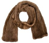 J. Mendel Knitted Mink Scarf