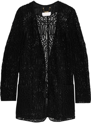 Chloé Embroidered Cotton-blend Mesh Jacket