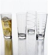 Mikasa Cheers Striped, Swirled & Dotted Highball Glasses, Set of 4