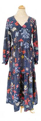 Anthropologie Blue Silk Dresses