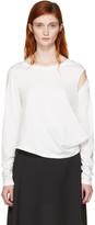 MM6 MAISON MARGIELA Off-White Crooked T-Shirt