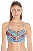 LaBlanca La Blanca Women's Tapmastery Lace up Midkini Bikini Top