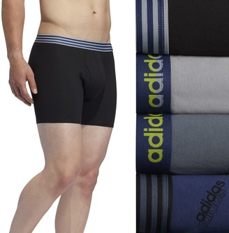 adidas Men's 4-Pack Performance Cotton Stretch Boxer Briefs