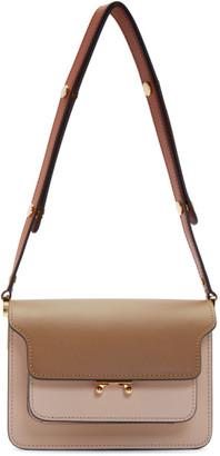 Marni Brown and Pink Mini Trunk Bag