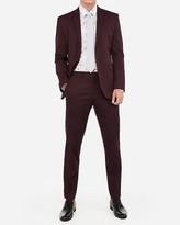 Express Slim Merlot Cotton Sateen Stretch Suit Pant