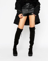 Truffle Collection Chunky Over Knee Boot