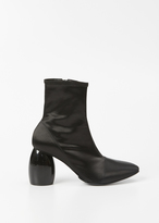 Dries Van Noten black patent heel mid boot