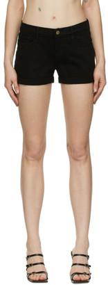 Frame Black Le Cutoff Rolled Shorts