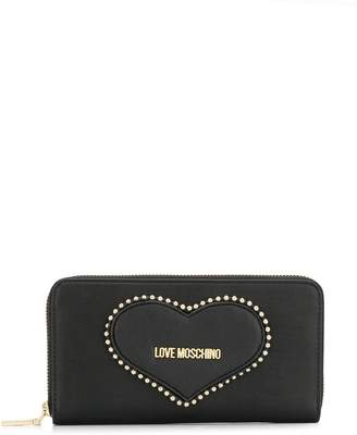 Love Moschino heart embroidered wallet