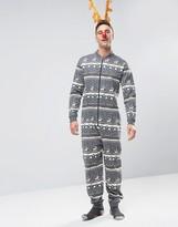 Asos Christmas Reindeer Print Onesie