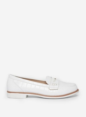 Dorothy Perkins Womens White 'Luther' Loafers, White