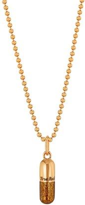 True Rocks Glitter Pill18 Carat Rose Gold Plated & Bronze Glitter Enamel Pill Pendant