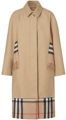 Burberry scarf detail gabardine coat