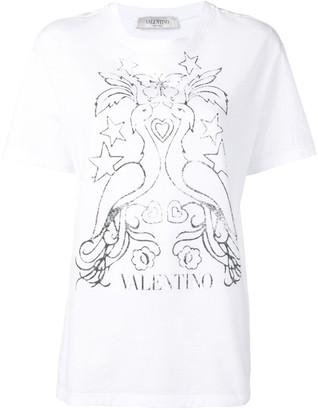 Valentino peacock print T-shirt