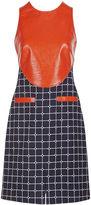 Courreges Navy & Orange Vinyl Pinafore Dress