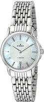 Edox Women's 57001 3M NAIN Les Bemonts Analog Display Swiss Quartz Silver Watch