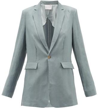 ASCENO Azores Single-breasted Organic-linen Blazer - Grey