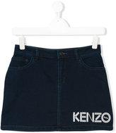 Kenzo teen logo print skirt - kids - Cotton/Polyester/Spandex/Elastane/Viscose - 16 yrs