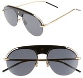 Christian Dior Women's Revolution 58Mm Aviator Sunglasses - Black/ Gold