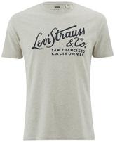 Levi's Men's Wordmark Graphic TShirt - Bisque Heather