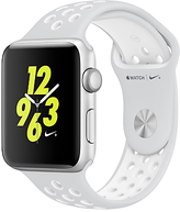 Apple Watch Nike+ 42mm Silver Aluminium Case with Nike Sport Band, Pure Platinum/White