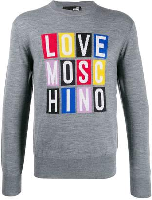 Love Moschino crew-neck logo sweater