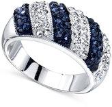 Unwritten Silver-Tone Crystal Stripe Ring