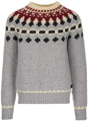 Woolrich Patterned Crew Neck Sweater