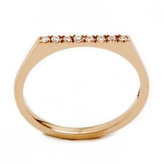 ONE JEWELRY Binna 14K Flat Top Ring With Diamonds