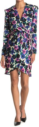 Veronica Beard Burma Long Sleeve Floral Wrap Dress