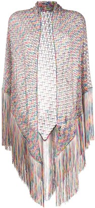 Missoni Sheer Knit Fringed Shawl