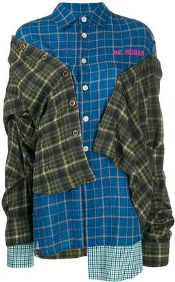 Natasha Zinko layered plaid shirt