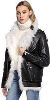 Saint Laurent Oversized Leather Jacket & Vest W/ Fur