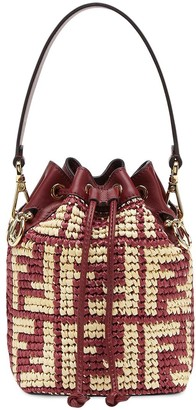 Fendi mini Mon Tresor straw bag