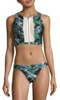 We Are Handsome Tropical Bikini Top