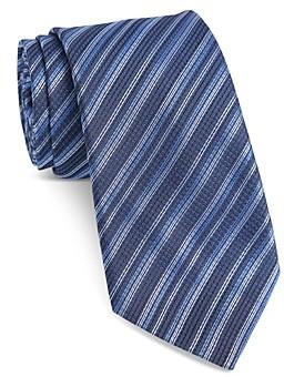 John Varvatos Fillmore Textured Stripe Classic Tie