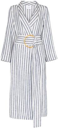 Sleeper Ruled Robe Dress