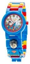 Lego Super Heroes Superman Kids Minifigure Interchangeable Links Watch - Multicolor