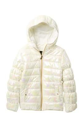 Jessica Simpson Holo Camo Puffer Jacket (Big Girls)