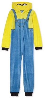 Minions Boys Exclusive Hooded Pajama Blanket Sleeper, Sizes 4-12