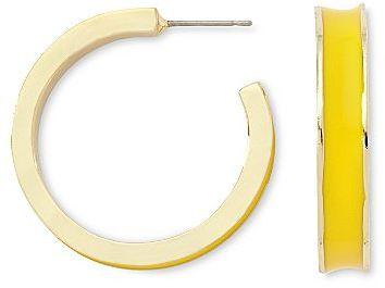 Liz Claiborne Gold-Tone Hoop Earrings