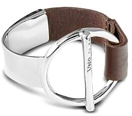 Uno de 50 Switch On Silver-Plated & Leather Bangle Bracelet