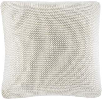 "Nautica Bartlett Ivory Cable Knit Pillow - 16"" x 16"""
