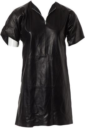 Celine Black Leather Dresses