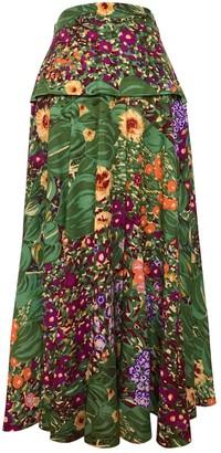 Kenzo Green Wool Skirt for Women Vintage
