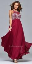 Faviana Chiffon Beaded A-line Prom Dress