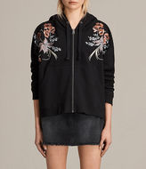 AllSaints Margot Embroidered Hoody