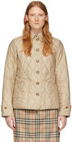Burberry Beige Quilted Fernhill Jacket