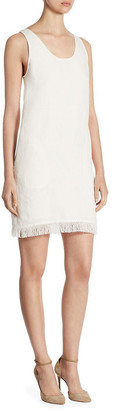 Theory Oekel Fringed Linen Shift Dress
