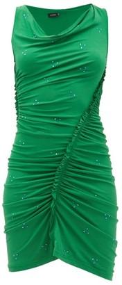Atlein - Ruched Crystal-embellished Crepe Dress - Green
